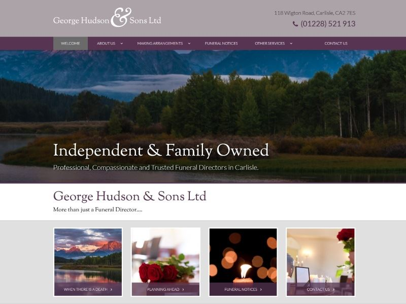 George Hudson & Sons Ltd - Funeral Directors in Carlisle