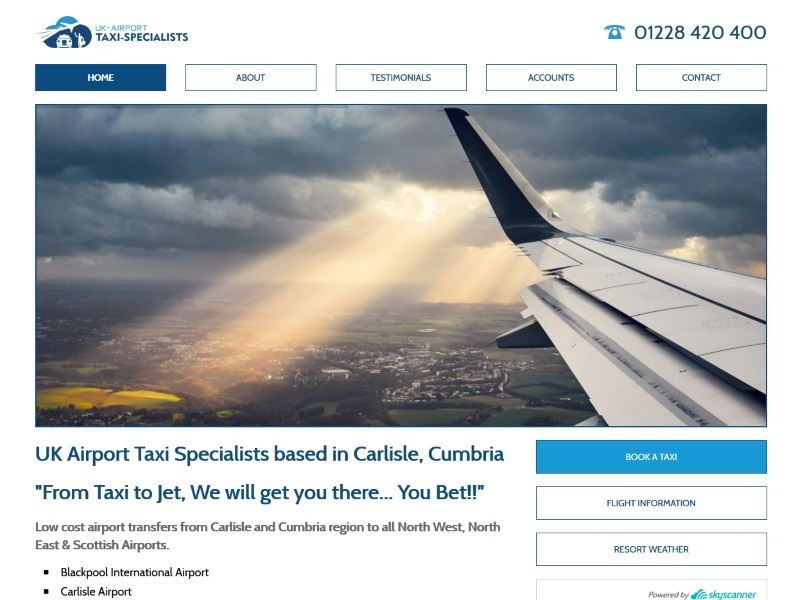 UK Airport Taxi Specialists - UK Airport Taxi Specialists based in Carlisle, Cumbria