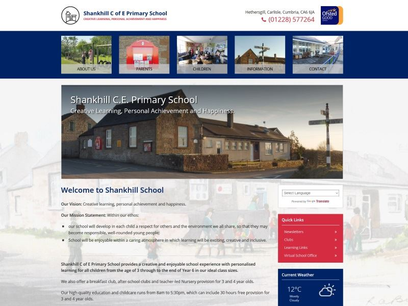 Shankhill C of E Primary School - Primary School in Shankhill, Carlisle