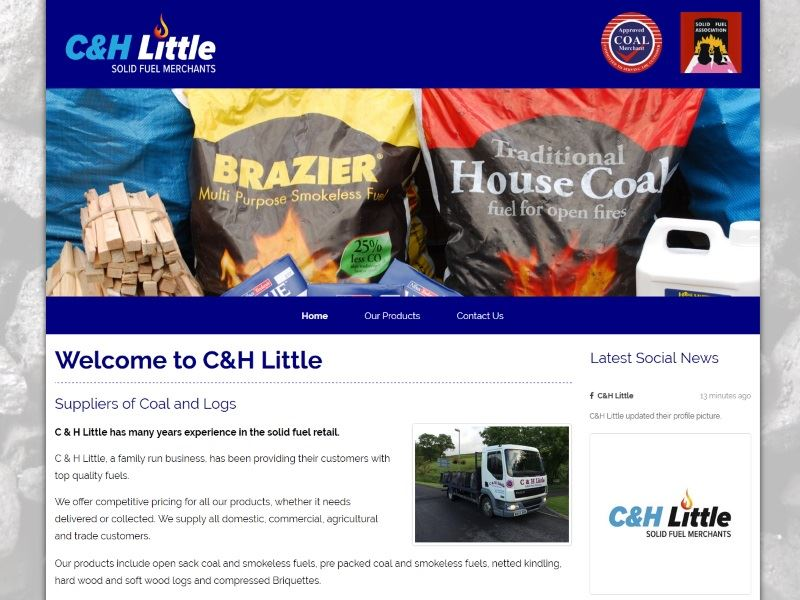 C&H Little - Solid Fuel Merchants - Suppliers of Coals and Logs.