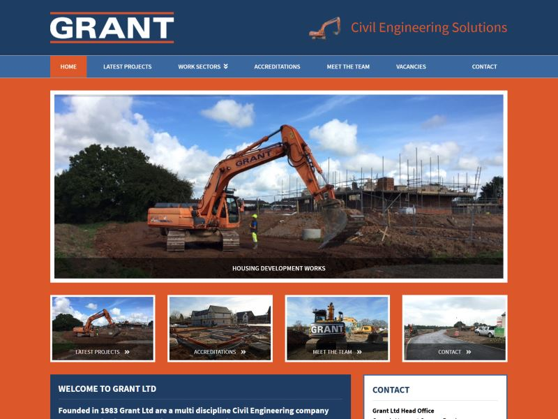 Grant Ltd - Civil Engineers specialising in deep excavation, ground support and renewable energy schemes.
