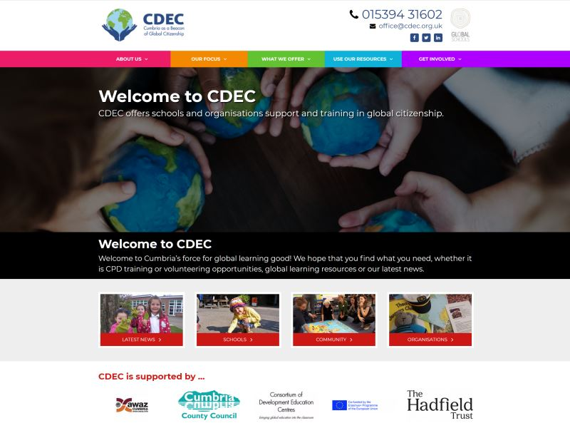 Cumbria Development Education Centre - CDEC works with schools to help develop Cumbria children so they are global citizens.