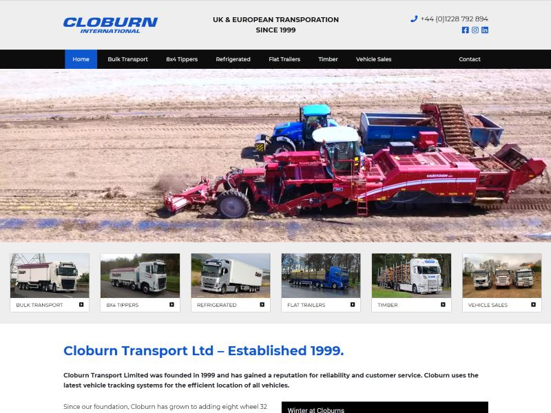 Cloburn International - UK & European Transporation since 1999