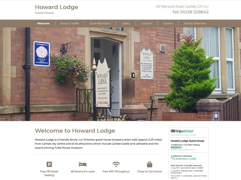 Howard Lodge Guest House - Small family run Bed and Breakfast in Carlisle, Cumbria.