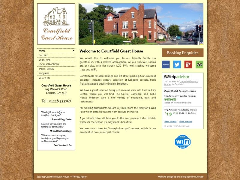 Courtfield Guest House - Friendly family run Bed & Breakfast in Carlisle