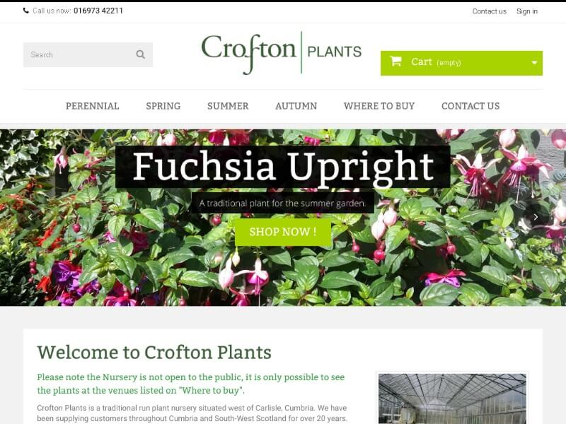 Crofton Plants - A traditional run plant nursery situated near Carlisle.