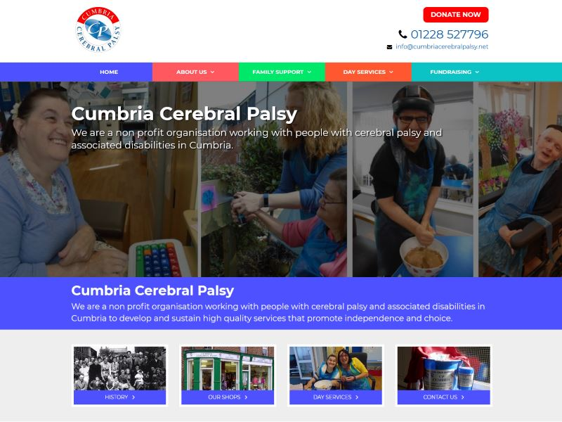 Cumbria Cerebral Palsy - Non profit organisation working with people with Cerebral Palsy in Cumbria