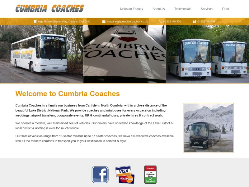 Cumbria Coaches - Coach hire company based in Carlisle, Cumbria.