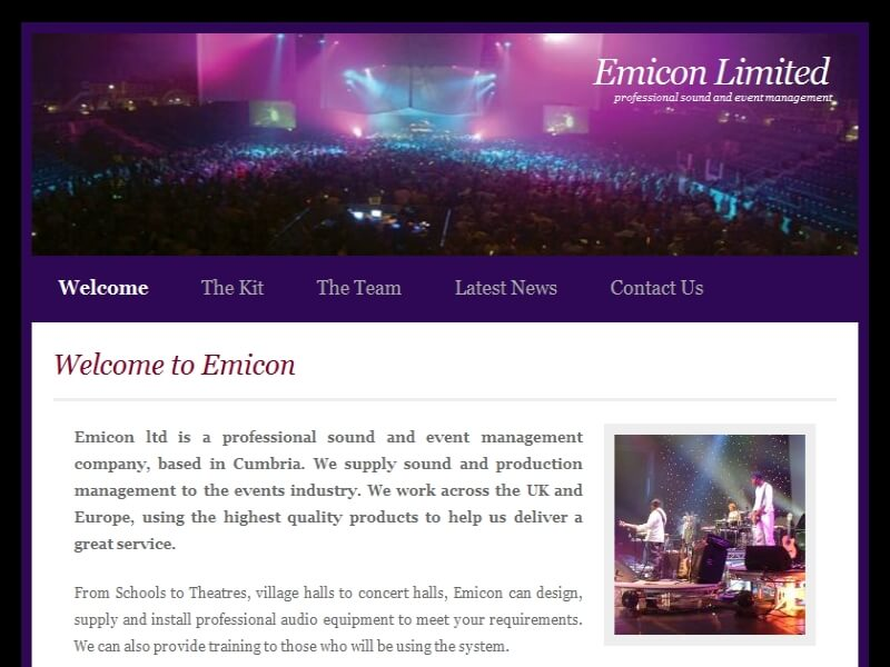Emicon Limited - Professional Sound and Event Management.