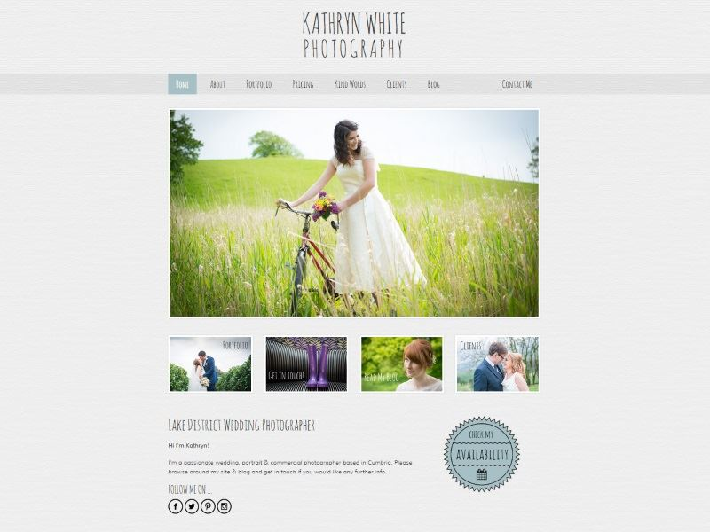 Kathryn White Photography - Specialists in weddings and baby portraits.
