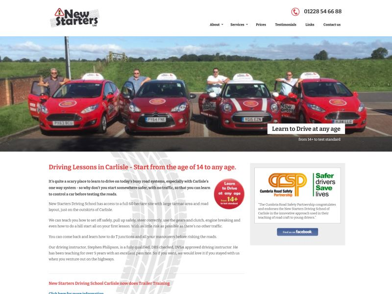 New Starters - Start your Driving Experience from the age of 14.
