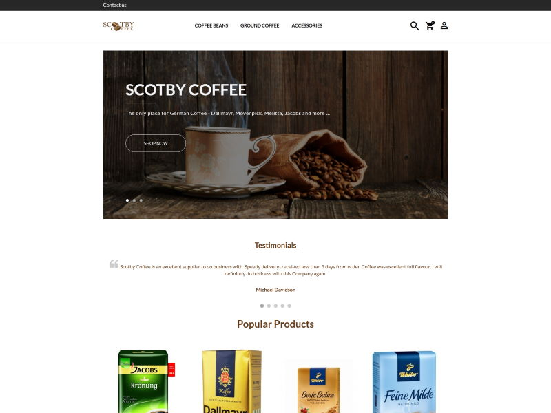 Scotby Coffee - Suppliers of Quality German Coffee.