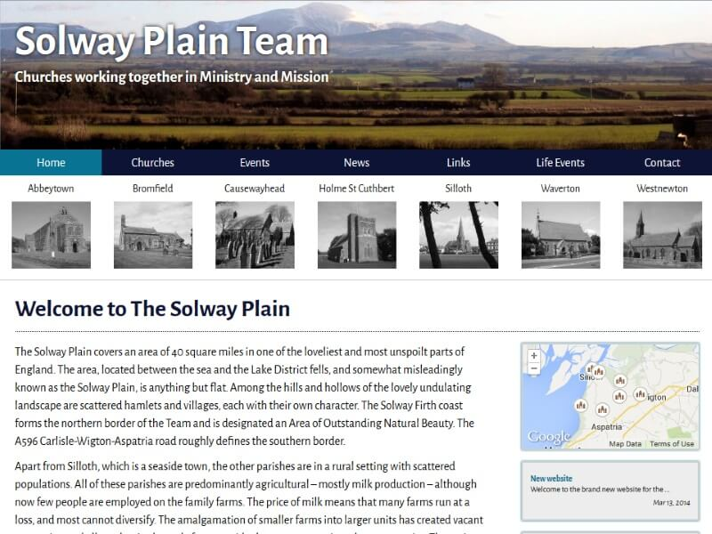 Solway Plain Churches - The Solway Plain Team is part of the Church of England in Cumbria.