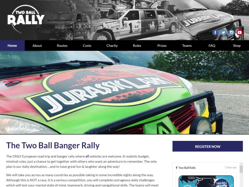 Two Ball Banger Rally - European Road Trip and Banger Rally.