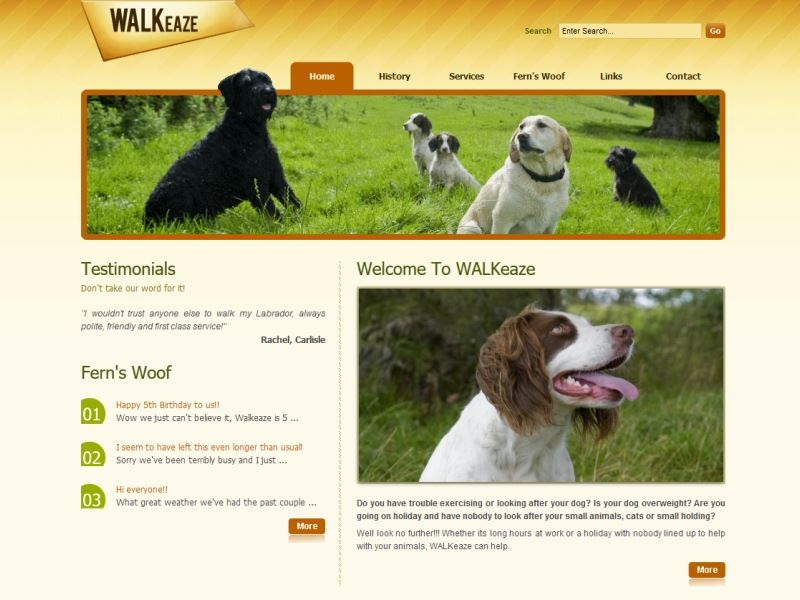 Walkeaze - Dog walking services.