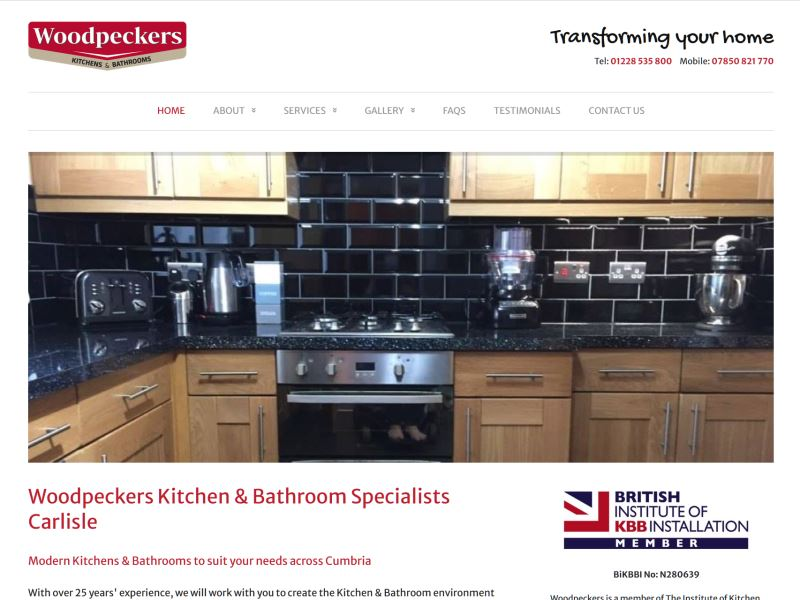 Woodpeckers - Modern Kitchens & Bathrooms to suit your needs across Cumbria