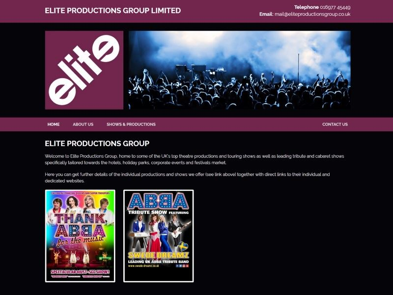 Elite Productions Group - Quality Entertainment Productions