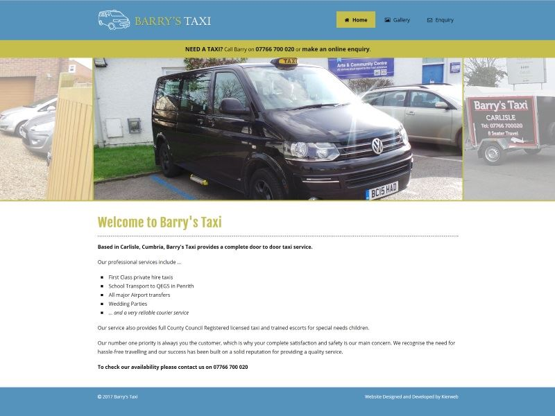 Barry's Taxi - Barry's Taxi provides a complete door to door taxi service.