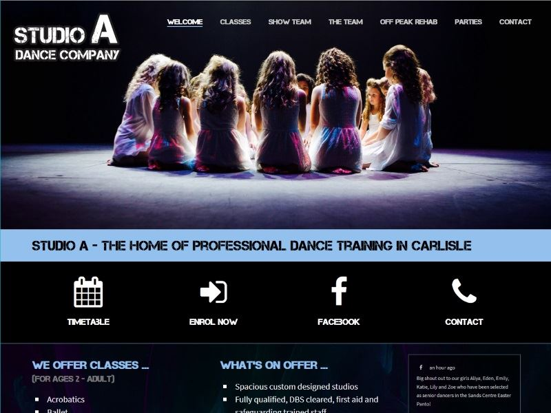 Studio A Dance Company - The Home of Professional Dance Training in Carlisle
