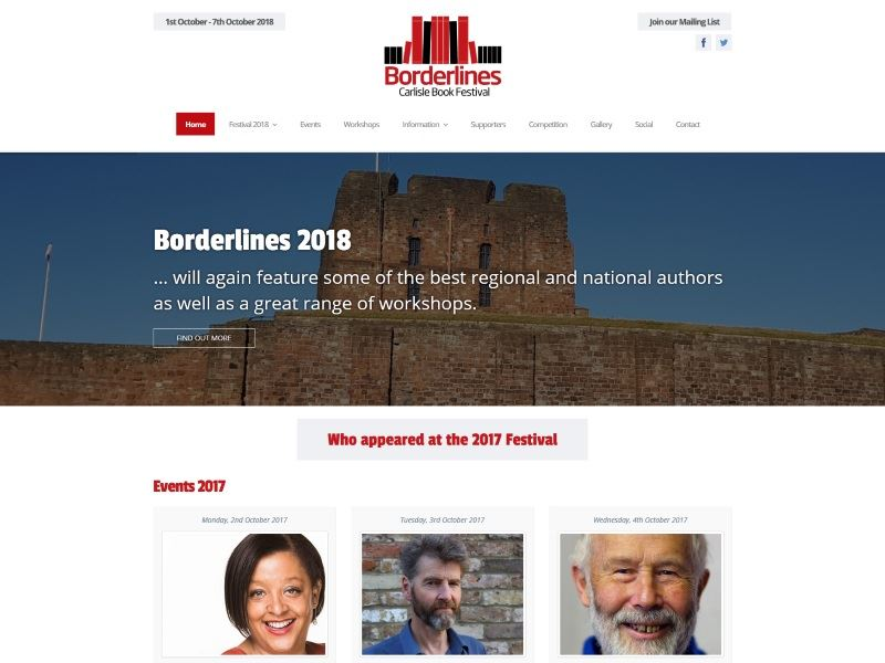 Borderlines Carlisle - The festival for readers and writers and all who love literature.