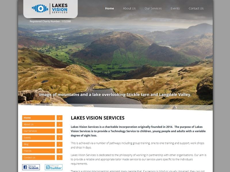 Lakes Vision Services - Providing Technology Services to children, young people and adults with a variable degree of sight loss.