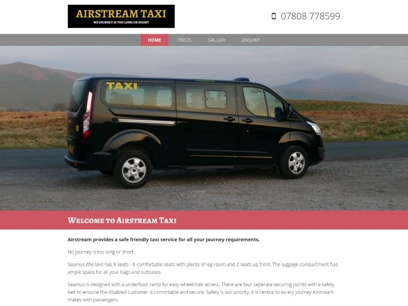 Airstream Taxi - Airstream provides a safe friendly taxi service for all your journey requirements.