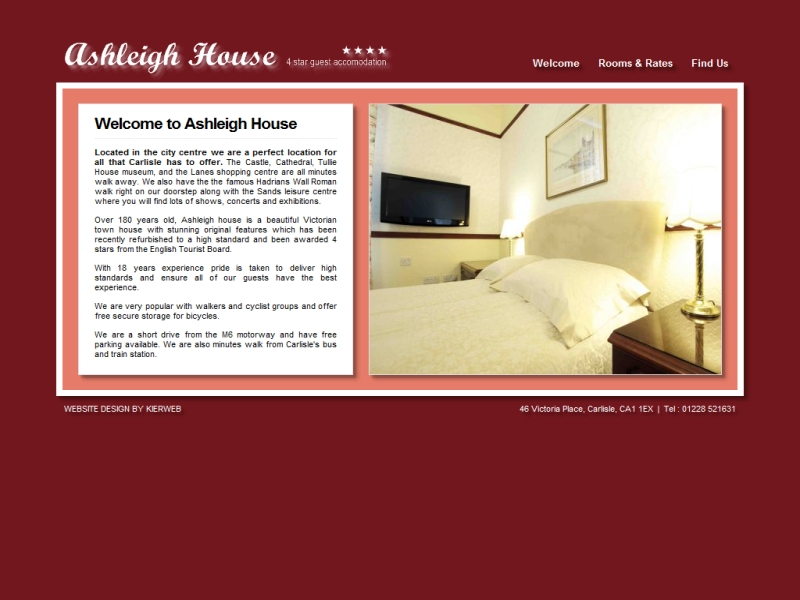 Ashleigh Guest House - Victorian Town House located in Carlisle, Cumbria.