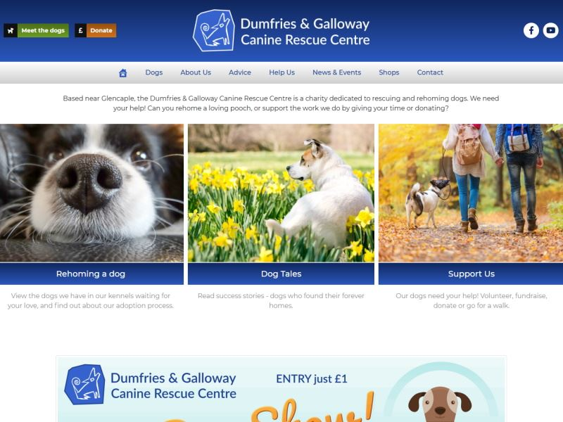 Canine Rescue Centre - Dog Rescue and Rehoming Facility in Dumfries and Galloway.