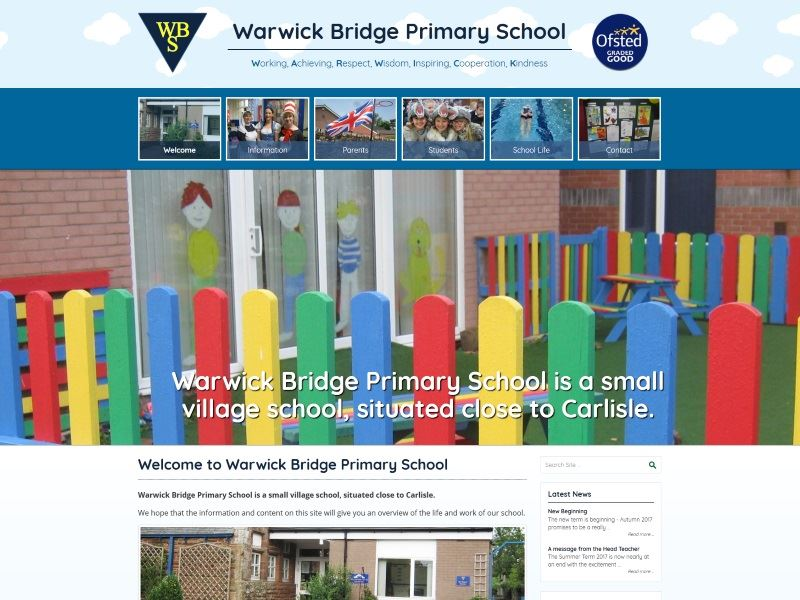 Warwick Bridge Primary School - Warwick Bridge Primary School is a small village school, situated close to Carlisle.