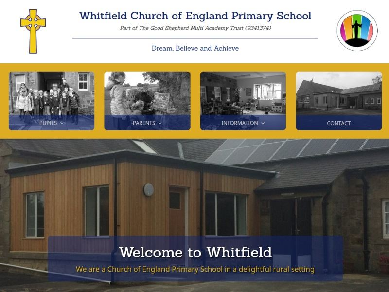 Whitfield CE Primary School - Located in a village in the North Pennines - an Area of Outstanding Natural Beauty.
