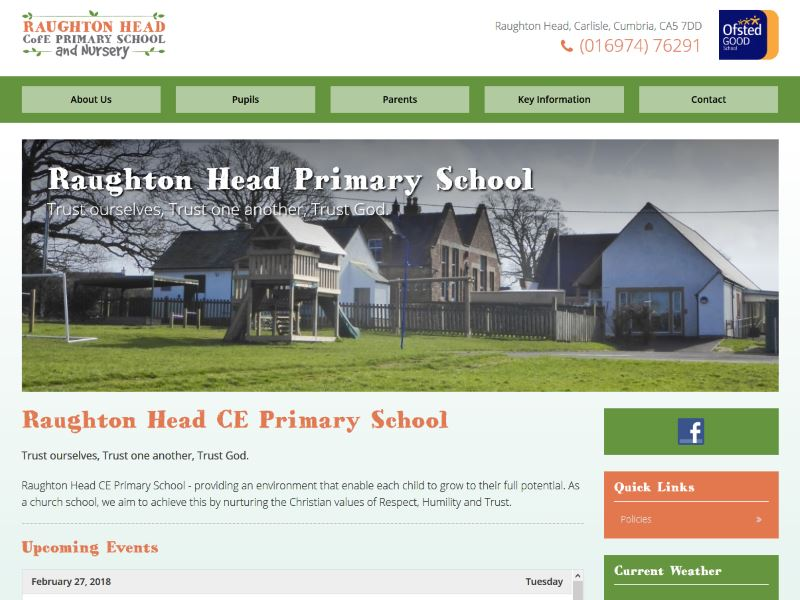 Raughton Head Primary School - Primary School in Raughton Head near Carlisle